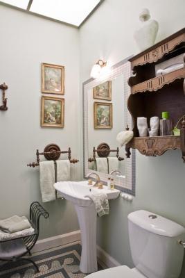 salle de douche chambre verte la Guérandière