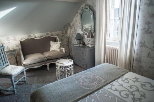 Chambre grise Maison d'hôtes la Guérandière